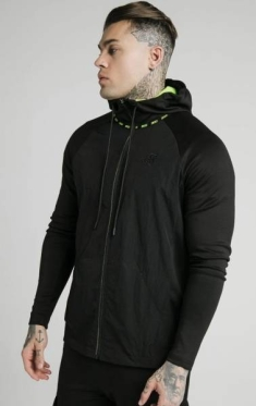 SIKSILK ADAPT CRUSHED NYLON ZIP HOODIE