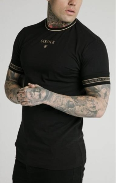 SIKSILK ELEMENT STRAIGHT HEM GYM TEE