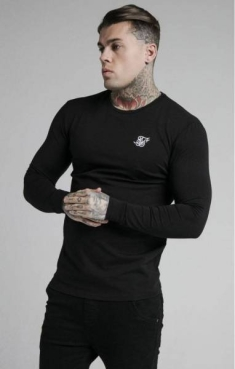 SIKSILK STRAIGHT HEM GYM LONGSLEEVE TEE