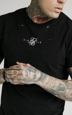 SIKSILK DISTRESSED BOX TEE