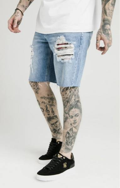 SIK SILK LOOSE FIT DENIM SHORTS