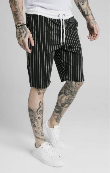SIKSILK CHINO ELASTICATED LONG SHORTS